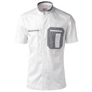 Kokkeskjorte Herre korte ermer
