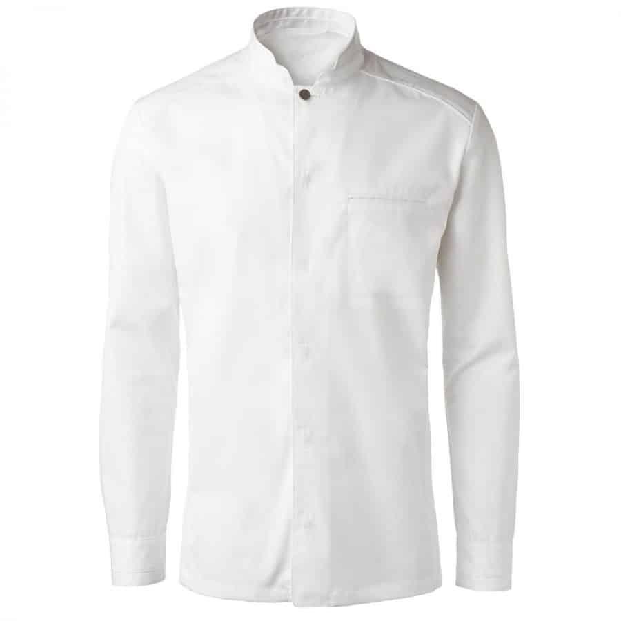 Kokkeskjorte Ragnar Herre Hvit Lange Ermer