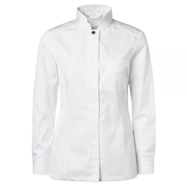 Kokkeskjorte Dame Lange Ermer Hvit