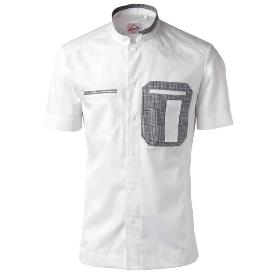 Kokkeskjorte Eirik korte ermer Hvit