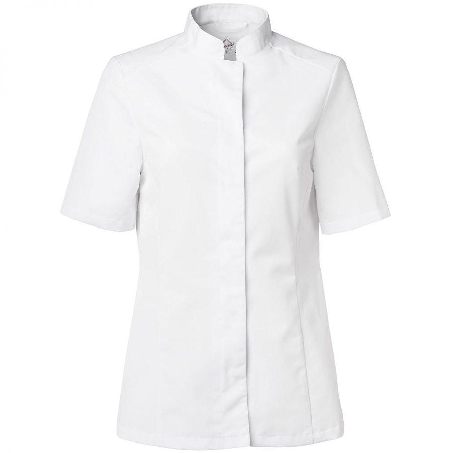 Kokkeskjorte Dame Korte Ermer Hvit