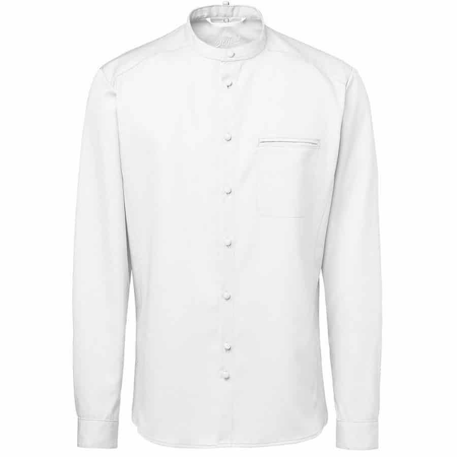 Kokkeskjorte Gustav Herre Hvit Lange Ermer