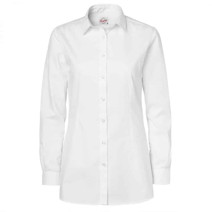 Skjorte Hvit Dame. lange ermer.