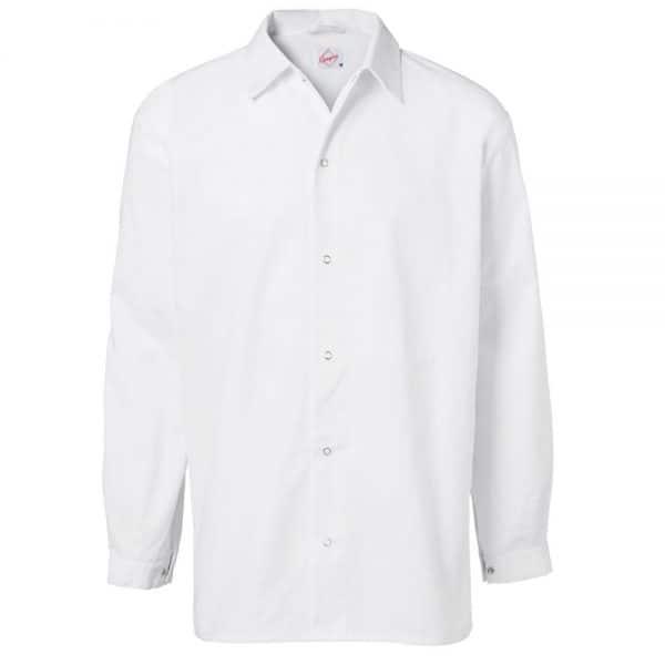 Storskjorte Unisex Hvit Lange Ermer