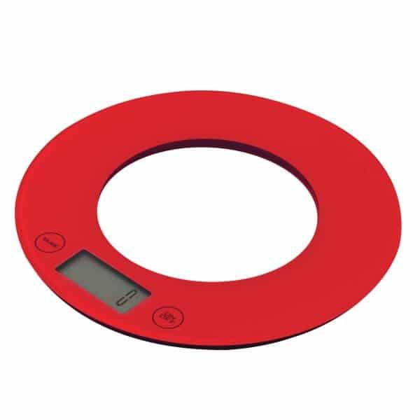 kjøkkenvekt rød rund 19cm