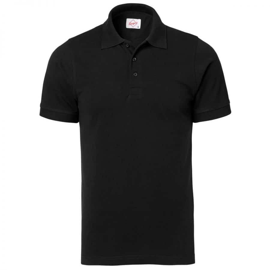 Pikéskjorte Herre, sort - Segers, Polo/Pique, Kokkens Beste
