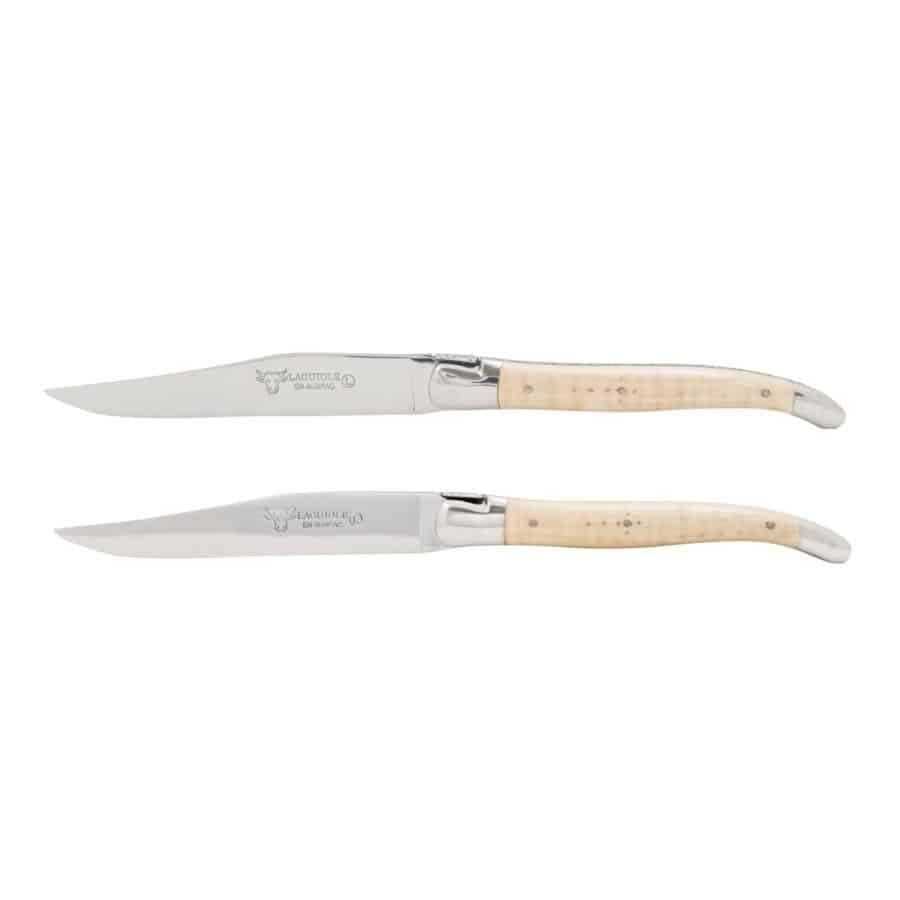 Laguiole Biffkniv 2 stk Lys Lønn