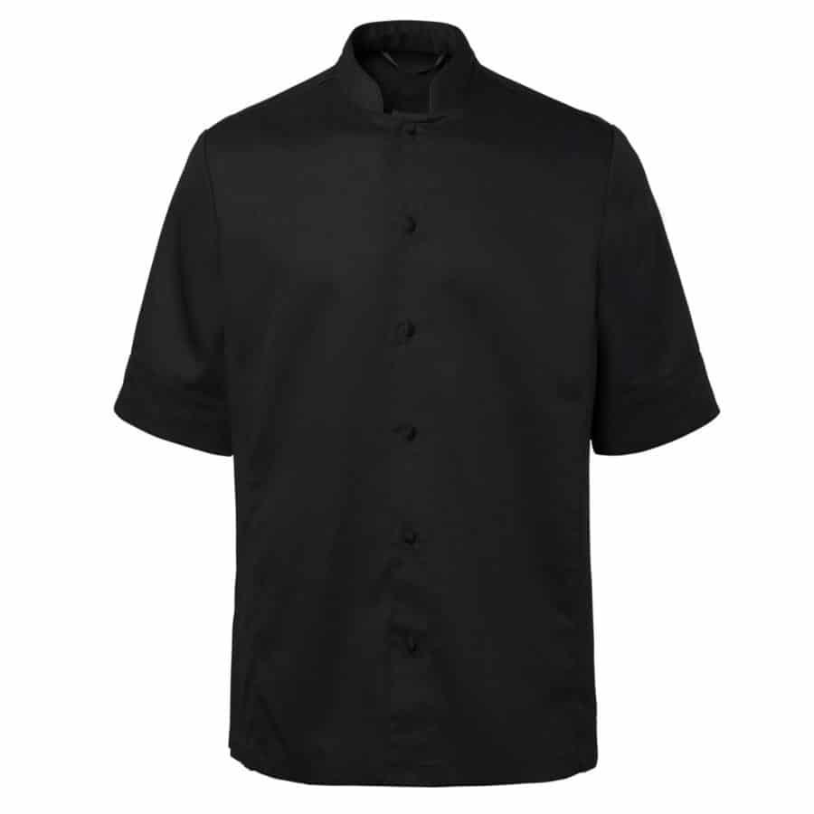 Chefs shirt Sort Korte Ermer Sort