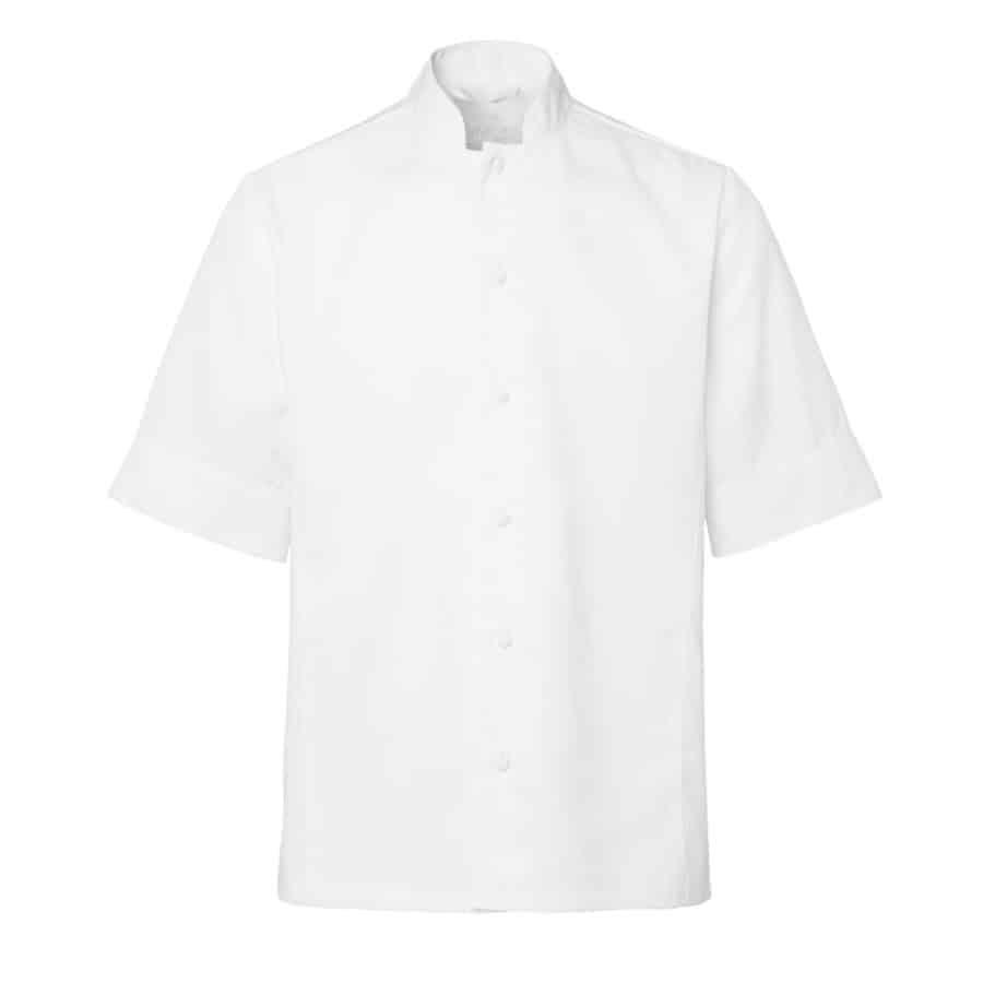 Chefs shirt Trym Hvit Herre Korte Ermer