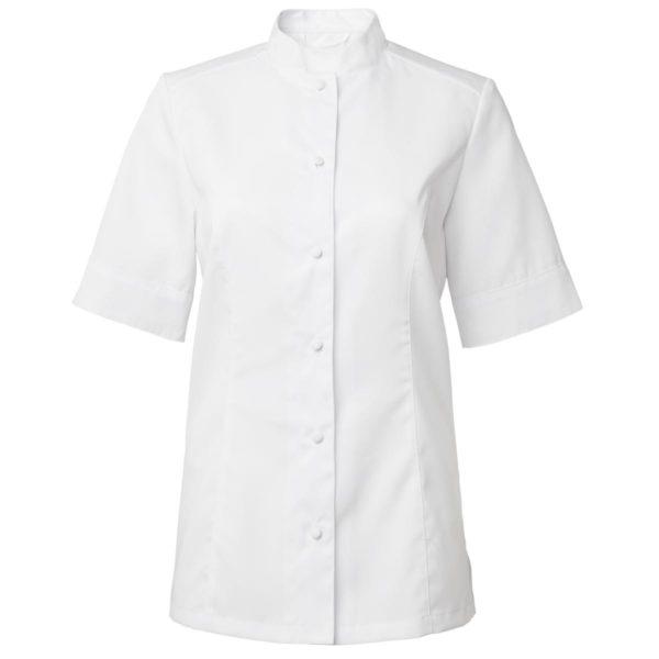 Chef shirt Dame Hvit Korte Ermer