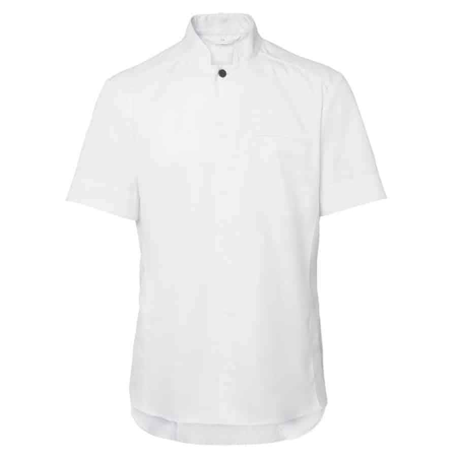 Kokkeskjorte Njord herre Hvit Korte Ermer
