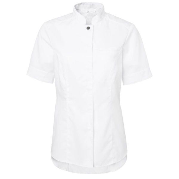 Kokkeskjorte dame Hvit Korte Ermer