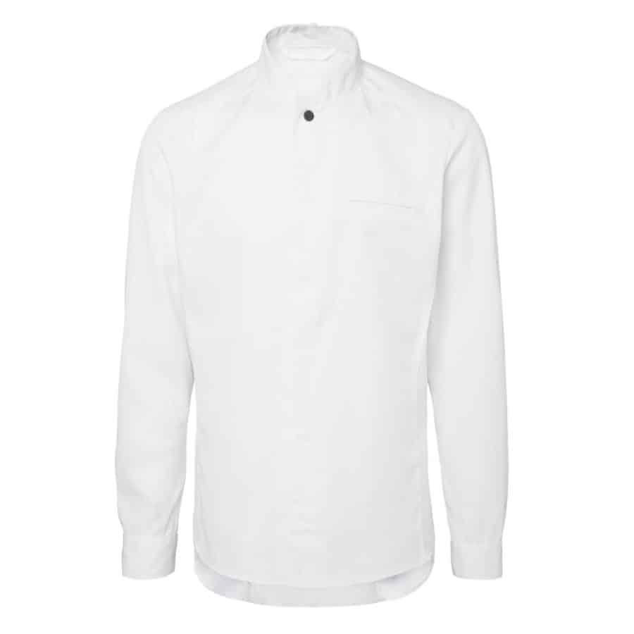 Kokkeskjorte Balder herre Hvit Lange Ermer