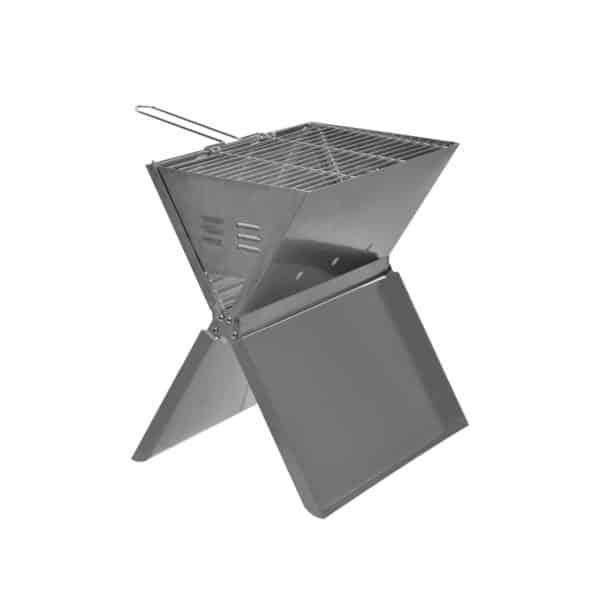 Bærbar grill Børstet stål