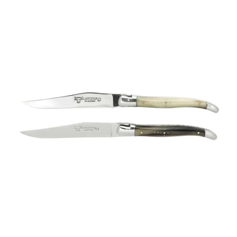Laguiole Biffkniv 2 stk Massivt Horn