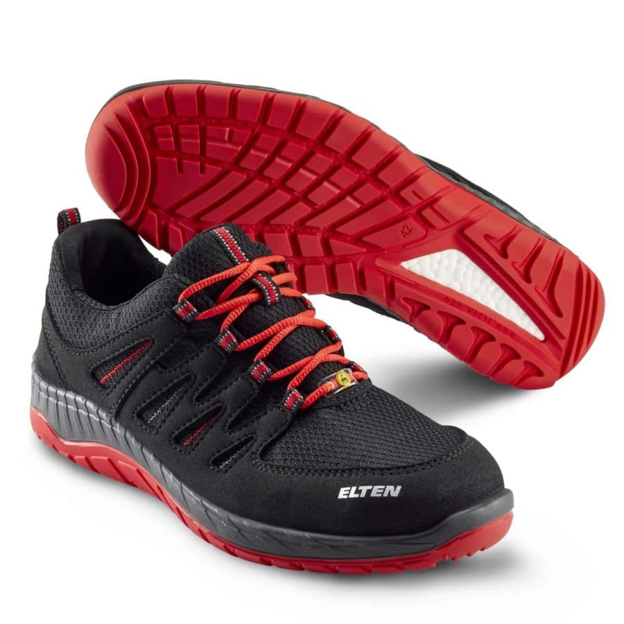 Vernesko Elten Maddox Black-Red Low
