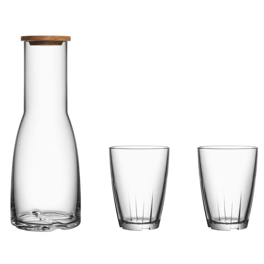 Karaffel med 2 vannglass - , Gaver & interiør, Kokkens Beste