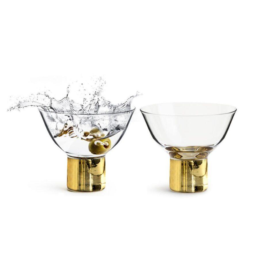 Club cocktail-/dessertglass gull 2pk - Sagaform, Gaver & interiør, Kokkens Beste