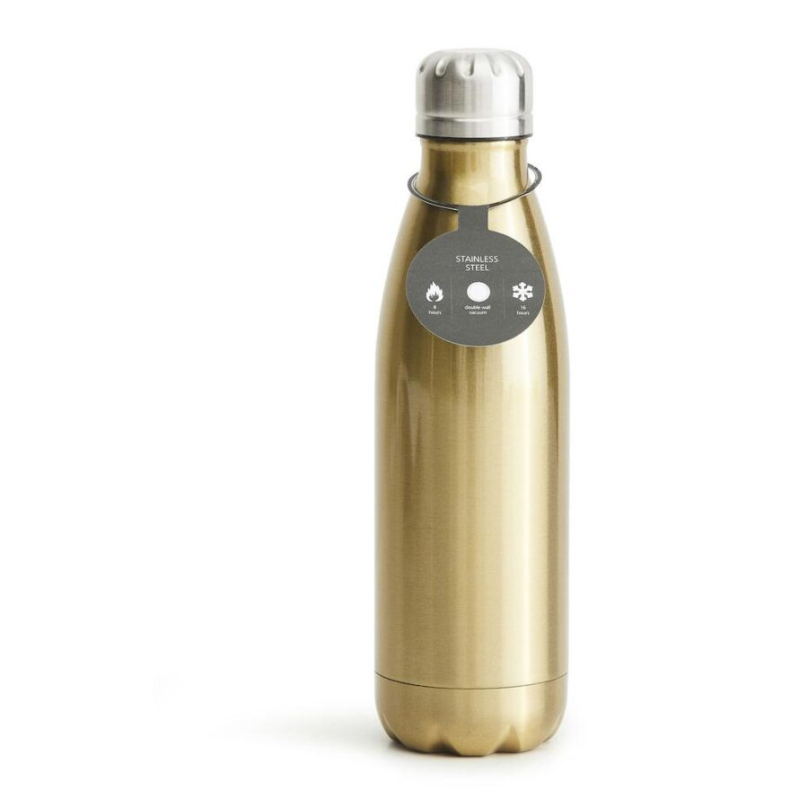 Stålflaske 50 cl Gull - , Drikkeflasker, Kokkens Beste