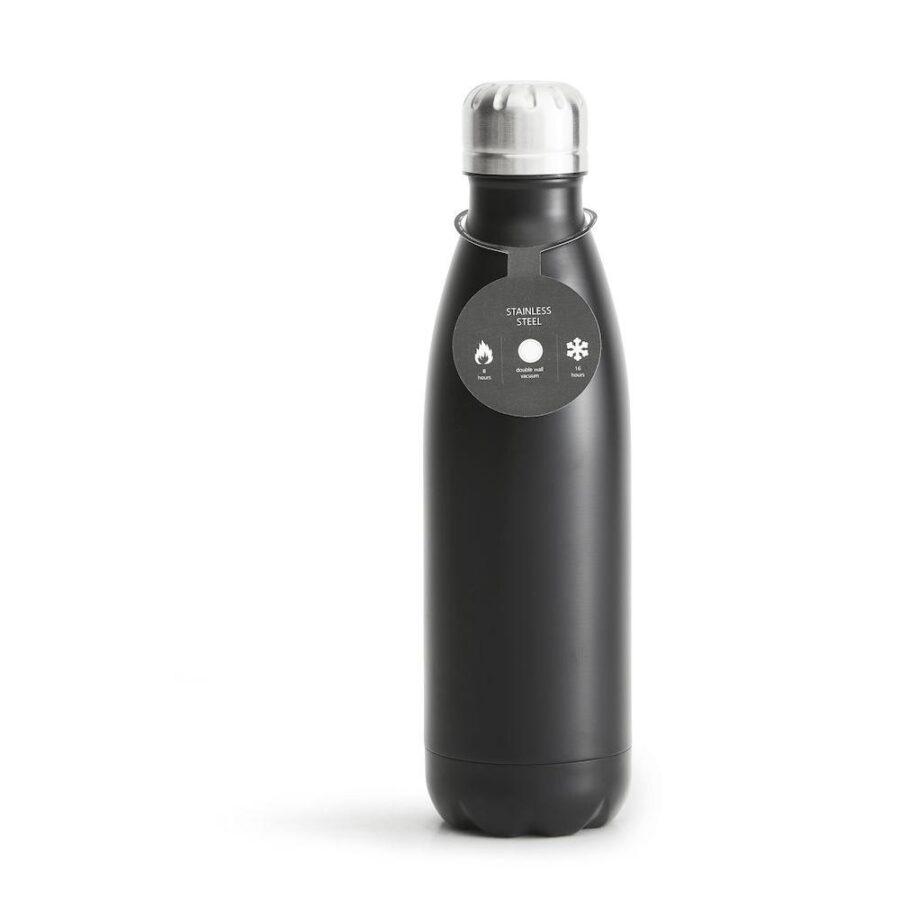 Stålflaske 50 cl Sort - , Drikkeflasker, Kokkens Beste