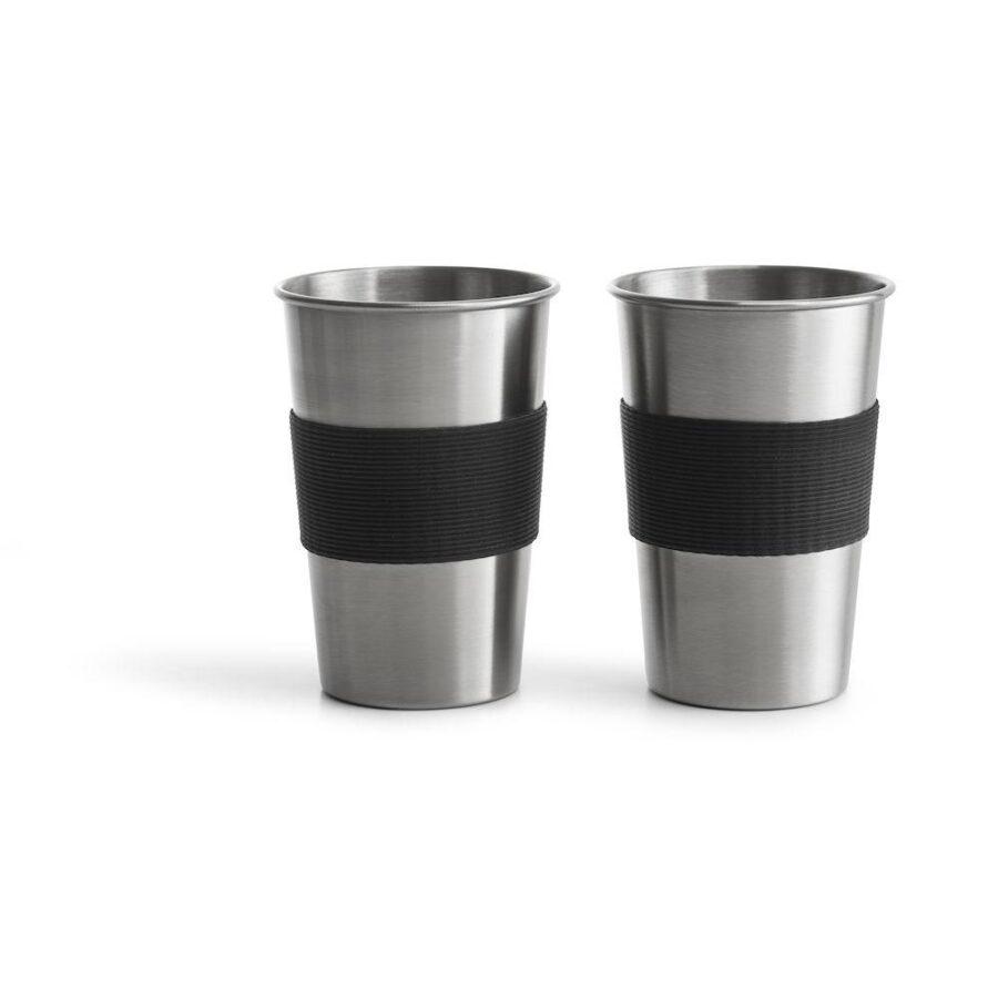 Stålkrus 50cl 2pk sølv - , Gaver & interiør, Kokkens Beste