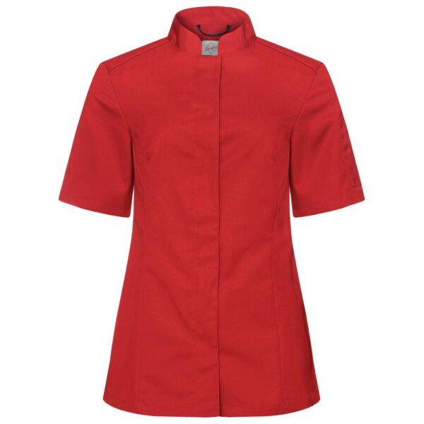 Kokkeskjorte Ulvira Korte Ermer rød