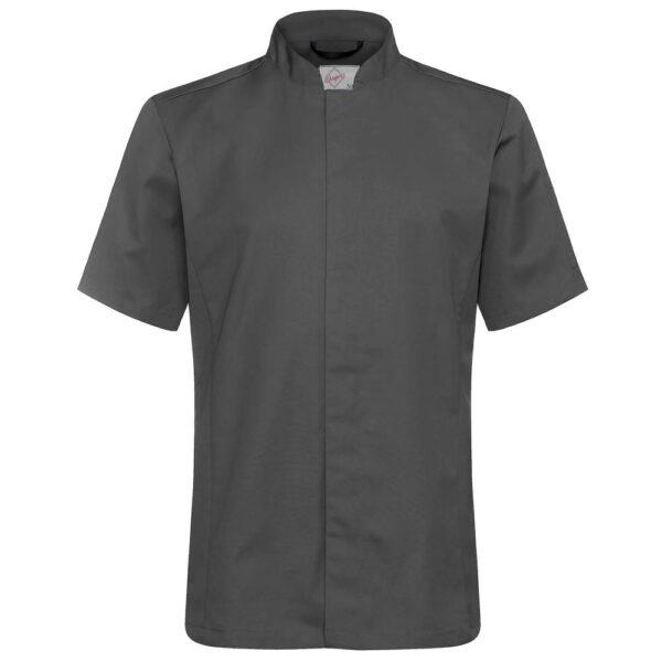 Kokkeskjorte Varg Korte Ermer grå