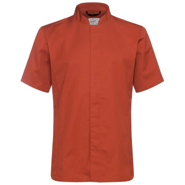 Kokkeskjorte Varg Korte Ermer rustrød