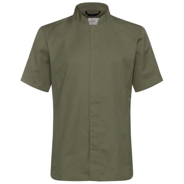 Kokkeskjorte Varg Korte Ermer olivengrønn