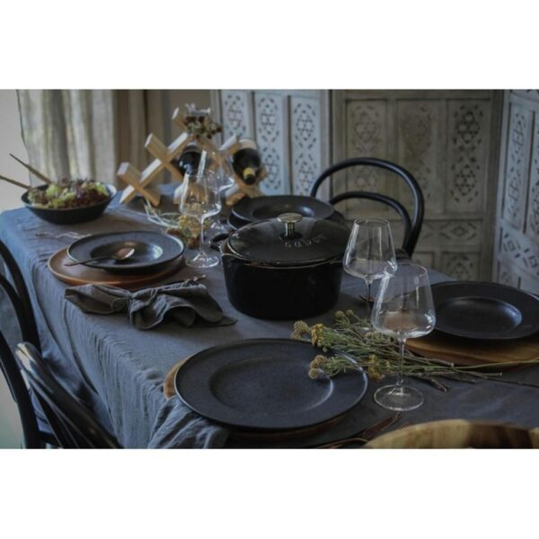 Black satin pastatallerken - Modern House, Servering utstyr, Kokkens Beste