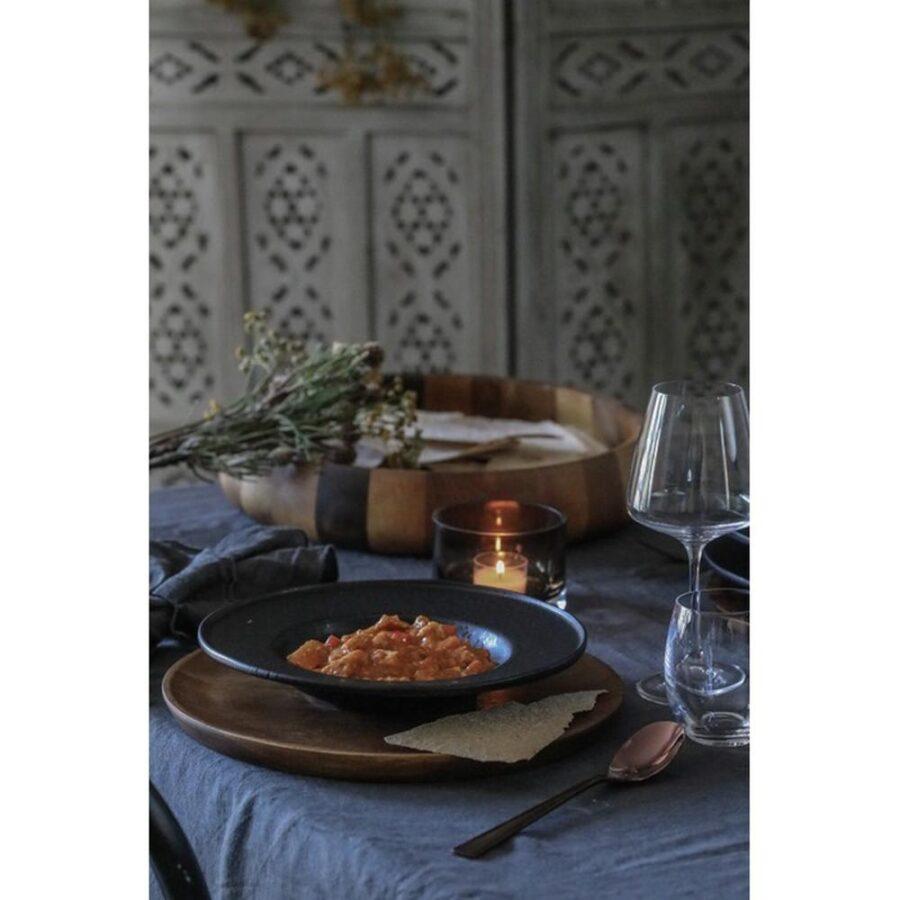 Black satin dyp tallerken - Modern House, Servise, Kokkens Beste