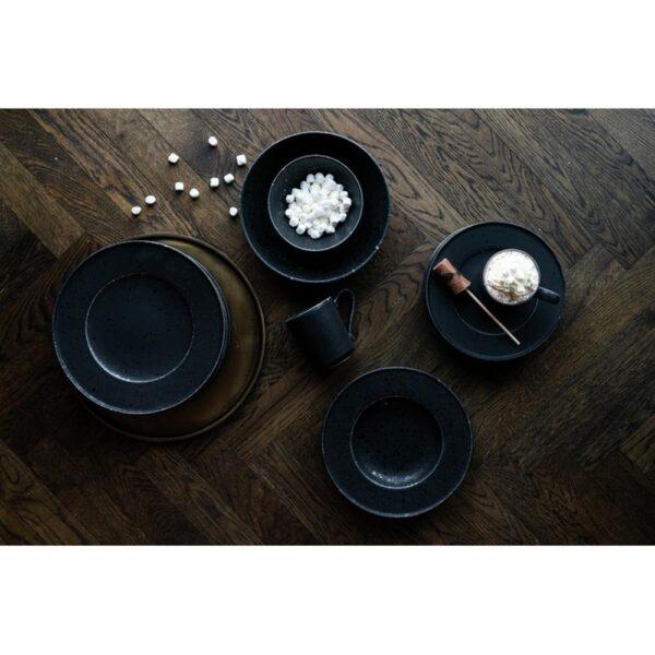 Black satin asjett Svart - Modern House, Servise, Kokkens Beste