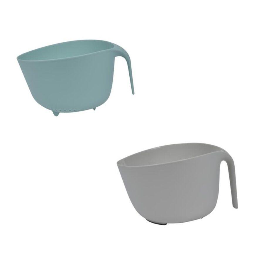 Millenium Rørebolle med dørslag blå/grå - Modern House, Bake, Kokkens Beste