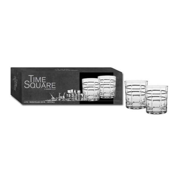 Time square Whiskyglass 4pk - Modern House, Glass, Kokkens Beste