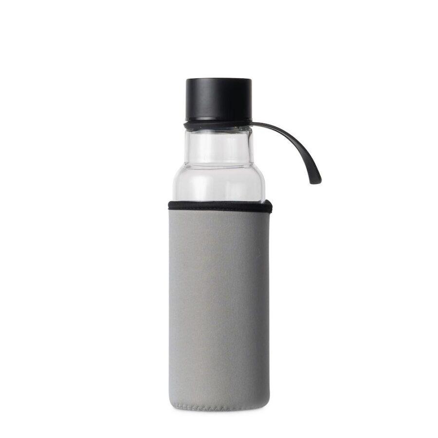Glassflaske 0,6l grå - Sagaform, Drikkeflasker, Kokkens Beste