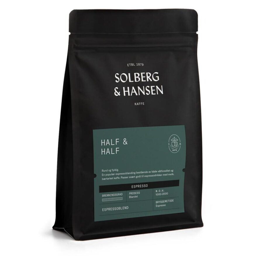 Kaffe Half & Half (Espresso) 250g - Solberg & Hansen, Kaffe, Kokkens Beste
