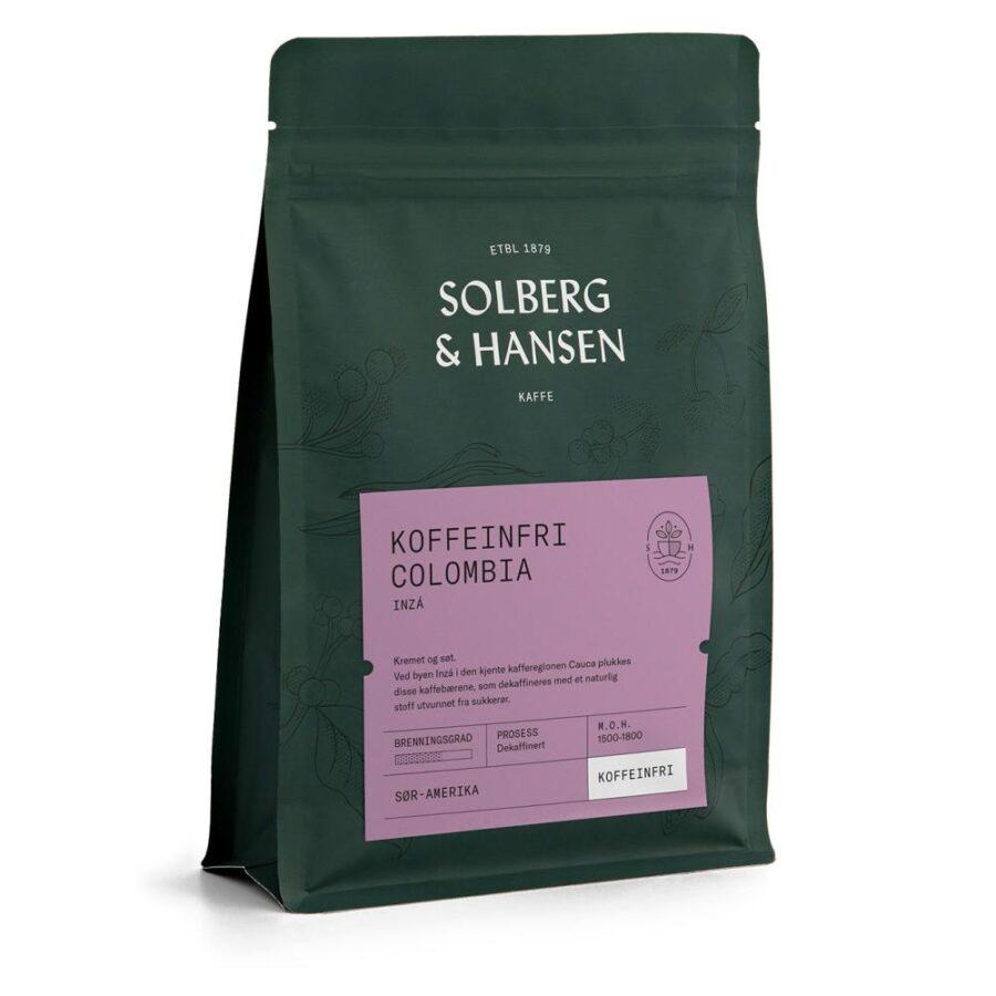 Solberg Hansen – Koffeinfri kaffe – Inzá - Solberg & Hansen, Kaffe, Kokkens Beste
