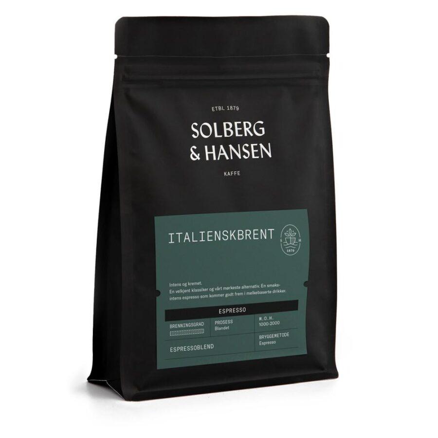 Kaffe Italienskbrent (Espresso) 250g - Solberg & Hansen, Kaffe, Kokkens Beste