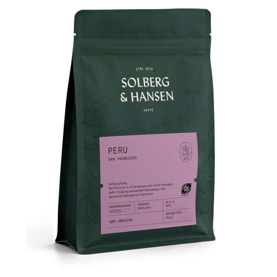 Kaffe San Francisco – Peru 250g - Solberg & Hansen, Kaffe, Kokkens Beste